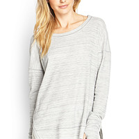 LOVE 21 Must-Have Heathered Top Heather Grey