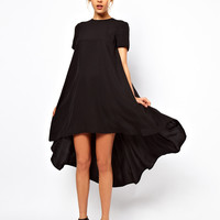 ASOS T-Shirt Dress With Dipped Back Hem at asos.com