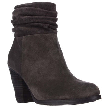 Vince Camuto Hesta Scrunch Ankle Boots - Charcoal Grey