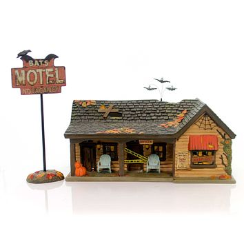 Department 56 House Bat's Motel Village Halloween Lighted Building