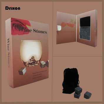 Drixon Whisky Whiskey Stones in Delicate Gift Box (R) Whiskey Rocks Whisky Stone Wedding Favor Party Supplies Christmas Gift