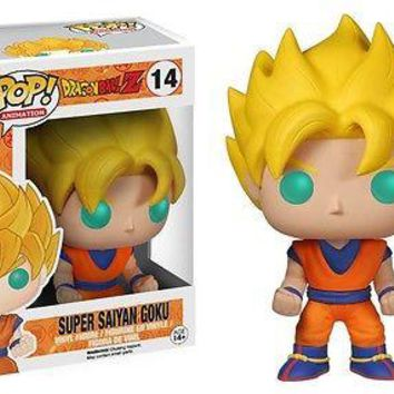 "Funko Pop Dragon Ball Z GLOW IN DARK Goku  3.75"" Vinyl Figure"