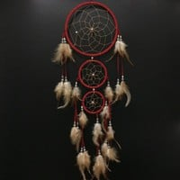 The Oily Essentials Dream Catcher Red 3 Ring