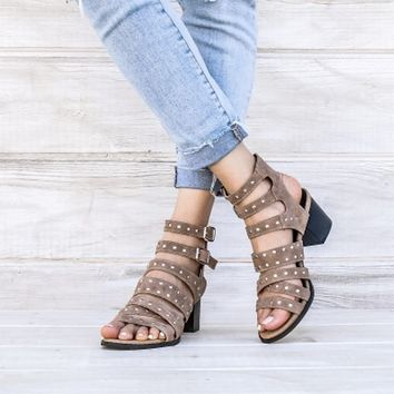 miracle miles - bella studded ankle strap sandals