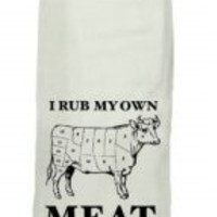 I Rub My Own Meat Hang Tight Towel by Twisted Wares