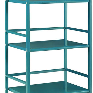 Altra Marshall 3 Shelf Metal Rolling Utility Cart Teal