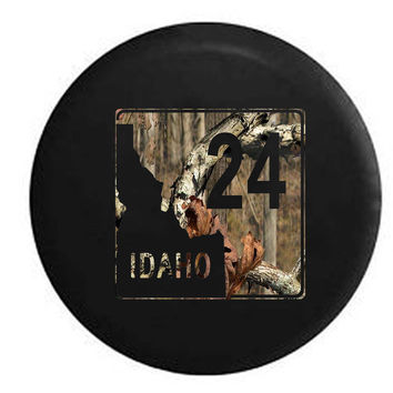 Idaho State Route Highway 24 Scenic Road Sign RV Camper Jeep Spare Tire Cover