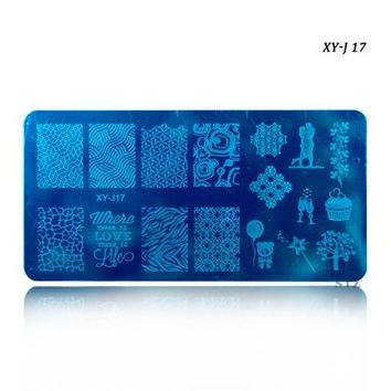 STZ 12x6cm New 16 Designs Flower/Christmas DIY Polish Stamping Nail Stamp Templates Nail Art Plates Nails Tools XYJ17-32