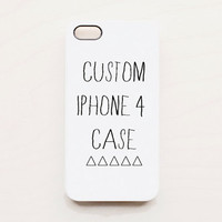 Custom Make Your Own iPhone 4 Case Unique by afterimages on Etsy