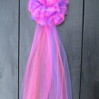 Purple Two Tone Tulle Bow