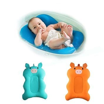 Bathing Newborns Baby Bathing Mat Baby Bathtub Shower Cushion Non-Slip Security Folding Stent Support Seat