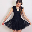 Noir Scallop Dress