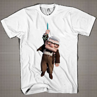 UP Hanging  Mens and Women T-Shirt Available Color Black And White
