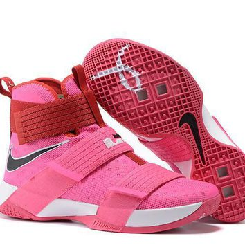 nike lebron soldier 10 ep breast cancer sneaker us7 12-1