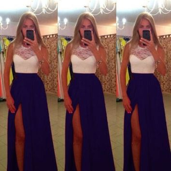 2014 New Long Sexy Evening Party Ball Prom Gown Formal Bridesmaid Cocktail Dress = 1946674564