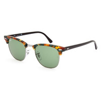 Ray-Ban Clubmaster Fleck Sunglasses Tortoise/Green Classic One Size For Women 26415540101