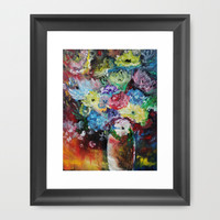 Flowers and Vase Framed Art Print by Liveart4evr
