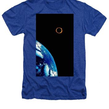 Solar Eclipse From The Space By Adam Asar 2 - Heathers T-Shirt