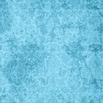 Grunge Flourish Blue Photo Backdrop / 1507