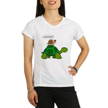 Snail on Turtle Performance Dry T-Shirt