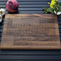 Personalized Periodic Table Engraved Wood Cutting Board - 12x16 -  Science Gift, Graduation Gift, Wedding Gift, Chemistry Art, Geekery