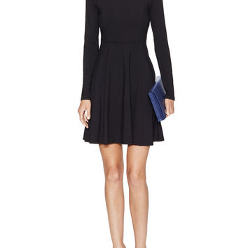 Boatneck Fit And Flare Dress