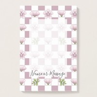 Cherry Blossom - Sakura - Pink Floral Pattern Name Post-it Notes
