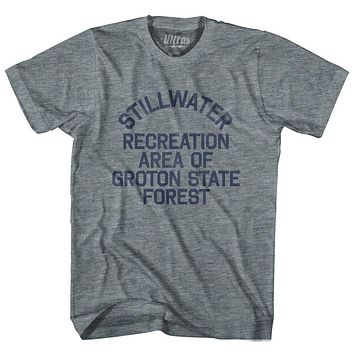 Vermont Stillwater Recreation Area of Groton State Forest Adult Tri-Blend Vintage T-shirt
