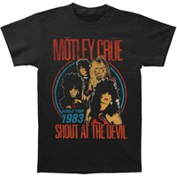 Motley Crue Men's  Vintage Shout At The Devil Slim Fit T-shirt Black