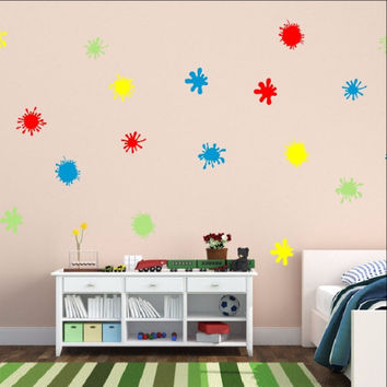 Paint Splatters Vinyl Wall Decal Set 22260