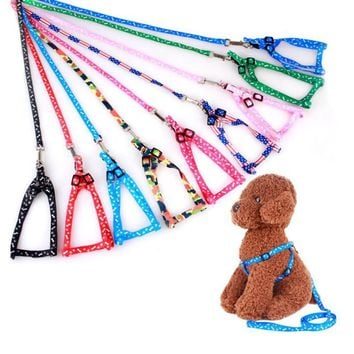 120cm Dog Leash Harness Collar Set for Small Dogs Cat Pets Puppy Leash Harness Walking Lead Rope Belt Pink/Red/Black/Blue/Camo