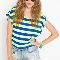 Bright Stripe Tee in Clothes at Nasty Gal