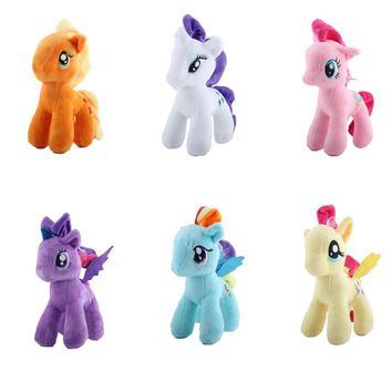 Rainbow little horse plush toy