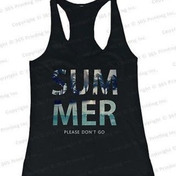 Women's Beach Tank Tops - SUMMER Please Don't Go (Racerback Style)