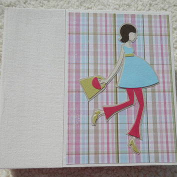 6x6 Chipboard Pregnancy Scrapbook Photo Album