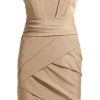 Hot Sale Elegance Nude Woven Hangzhou Silk Dress(AS THE PICTURE,S) China Wholesale - Sammydress.com