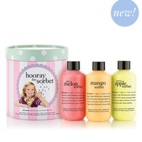 hooray for sorbet collection | shampoo, shower gel & bubble baths | philosophy bath & body value sets