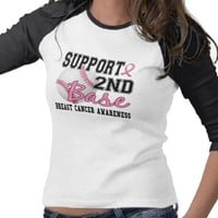 Second Base 14 Breast Cancer Shirts from Zazzle.com