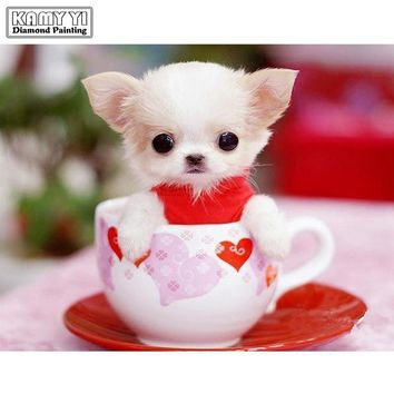 5D Diamond Painting Teacup Pup Kit