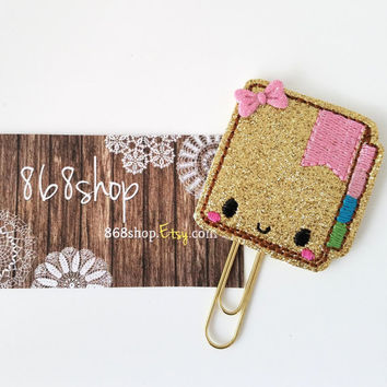 Gold Sparkle Glitter Planner Clip| Paper clips| Planner Accessory| Journal Marker| Bookmark| Teachers| Friends| Gifts