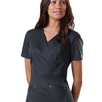 Buy Cherokee Workwear Stretch Women Mock Wrap Scrub Top for $20.99