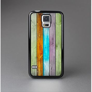 The Vintage Colored Wooden Planks Skin-Sert Case for the Samsung Galaxy S5