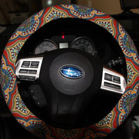 Steering Wheel Cover . Aztec Wheel Cover. Multicolor Wheel Cover . Women's Wheel Cover . Car Accessories