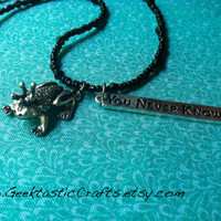 Frog Prince Charming Necklace, Silver Fairy Tale Jewelry You Never Know