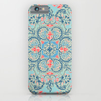Gypsy Floral in Red & Blue iPhone & iPod Case by Micklyn