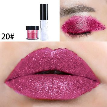 New 1PC Shimmer Glitter Lip Makeup Powder Palette Glitter Lipstick Beauty  Cosmetic Eye Lip Makeup Glitter Powder