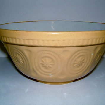 1950s Bowl Vintage Stoneware Bowl Vintage Mixing Bowl Vintage Kitchenalia Vintage Serving Vintage Table Vintage Housewares Kitchen Bowl