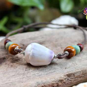Shell Jewelry from Hawaii, Hawaiian seashell bracelet by Mermaid Tears, fits women's size XS-S