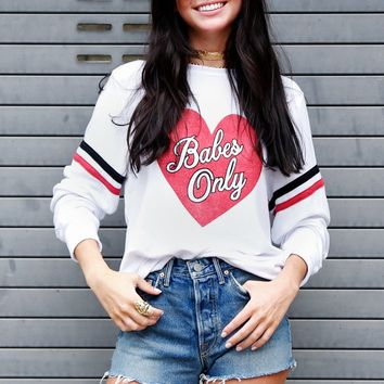 WILDFOX | Babes Only Baggy Beach Jumper - Clean White
