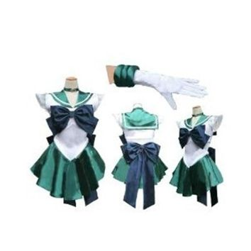 Brdwn Sailor Moon Cosplay Sailor Neptune Venus Uranus Pluto Kaiou Michiru Cosplay Costume Dress Sailor Suits School Uniforms
